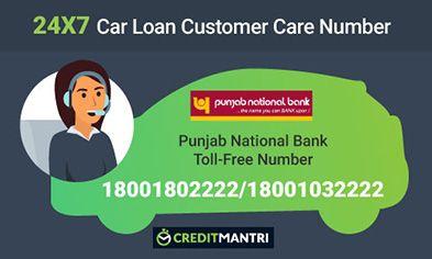 Punjab National Bank Car Loan Card Customer Care Number