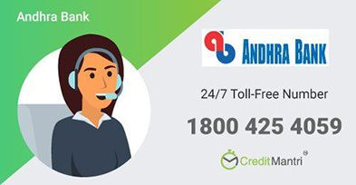 Andhra Bank Credit Card Customer Care Number: 24x7