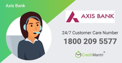 Axis Bank Credit Card Customer Care Number 24x7