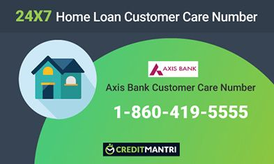 Axis Bank Home Loan Customer Care Number: 24x7