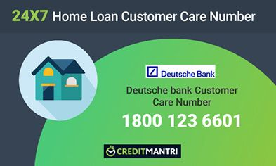 Deutsche Bank Home Loan Customer Care Number