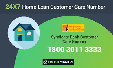 Syndicate Bank Home Loan Customer Care Number