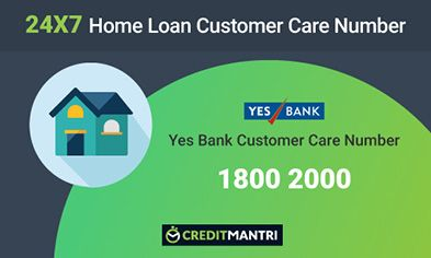 YES Bank Home Loan Customer Care Number: 24x7