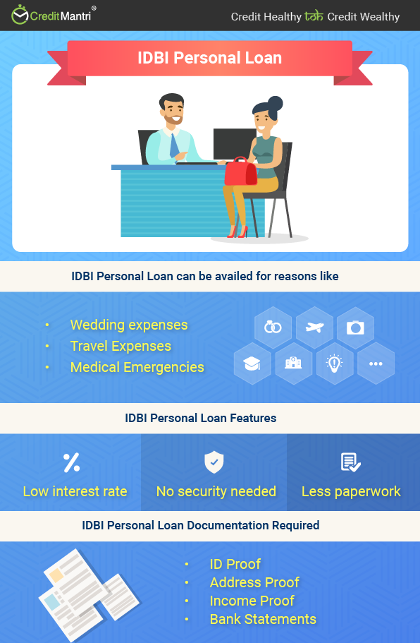 IDBI Personal Loan @ 9 5% * - Apply Online for (Instant