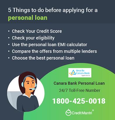 Canara bank emi calculator for personal, home, and car loans.