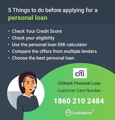Citi Bank Personal Loan Customer Care Number 24x7