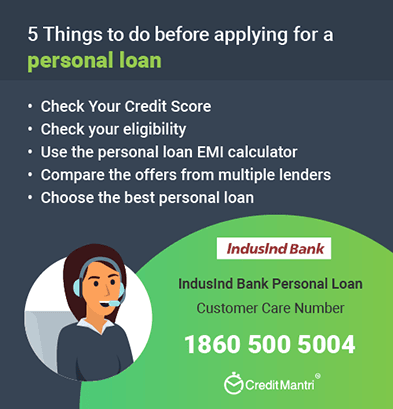 Indusind Bank Personal Loan Customer Care Number: 24x7